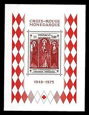 MONACO - BF - 1973 - 25° della Croce Rossa Monegasca. Trittico di L. Bréa