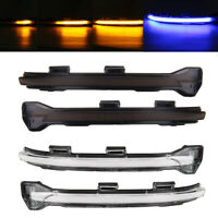 BLUE+AMBER DYNAMIC LED SIDE WING MIRROR INDICATOR LIGHT FOR VW GOLF 7 GTI R