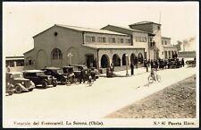 1559 CHILE LA SERENA RAILWAY STATION ESTACION DEL FERROCARRIL POSTCARD