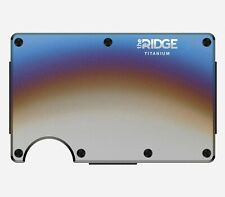The Ridge Wallet Titanium Burnt - Cash Strap - RFID Blocking