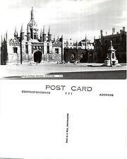 1930's KINGS COLLEGE GATEWAY CAMBRIDGE CAMBRIDGESHIRE REAL PHOTOGRAPH POSTCARD
