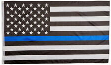 USA Thin Blue Line Police Department Law Enforcement Flag 3x5 w/ Grommets New!!