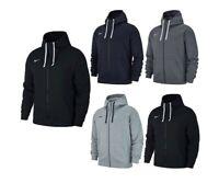 Nike Mens Hoodies Full Zip Hooded Sweatshirt Team Club 19 Hoody Hoodie Hood