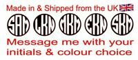 Personalize your items with initials made in Vinyl 5 Round disc in many colours