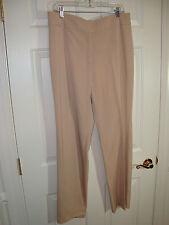 Pamela McCoy Tan Polyester/Rayon/Spandex Front Zip Career Pants 14 EUC