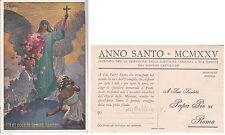 # BALLERIO: ANNO SANTO 1925- prestampata ind. SUA SANTITA' PAPA PIO XI