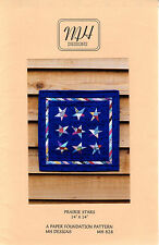 """©1997 MH Designs Quilting Paper Foundation Piecing Pattern MH828 """"Prairie Stars"""""""