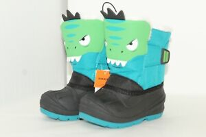 NWT Cat & Jack Toddler Boys Size 8 Teal Dinosaur Thermolite Lined WINTER Boots