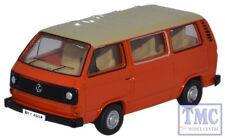 76T25008 Oxford Diecast 1:76 Scale OO Gauge VW T25 Bus Ivory/Brilliant Orange