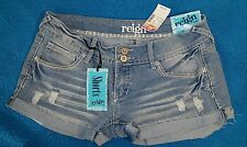 Hot jeans NEW Women's reign curvy cute Shorts distressed denim blue size 7