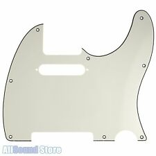 PARCHMENT Telecaster 3-Ply Pickguard for Fender USA MIM Standard Tele 8 Hole