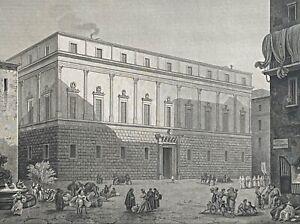 Italie Palazzo Gravina di Comitini Palerme d'après Turpin graveur Dormier 1828