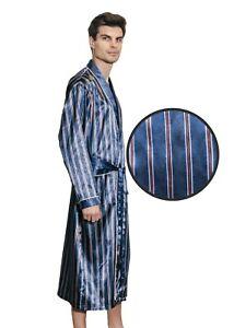 Mens Silk Satin Robe