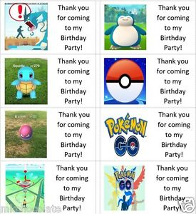 40x Personalised Pokemon Go/Pokeball/ labels/stickers/party/cake/sweet/bags