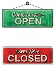 Open / Closed Sign Reversible Notice Shop Sign With Window Sucker 30 x 105mm