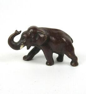 Schöne Bronze Figur Elefant massiv Sammlerstück Bronzefigur Figurine Elephant +