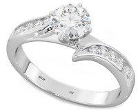 Ladies 925 Silver Created Diamonds Wedding Engagement Bridal Ring