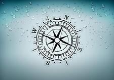 Sticker car motorcycle helmet vinyl compass nautical boat sailing anchor r2