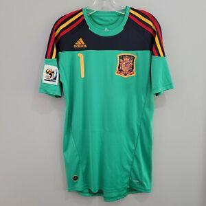Adidas 2010 FIFA World Cup Spain Iker Casillas 1 Football Soccer Jersey Mens M