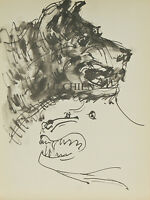 """""""Le Chien"""" By Pablo Picasso Lithograph from Buffon Book 14 3/4""""x11"""""""