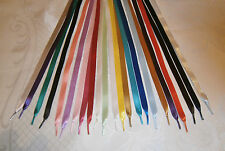 Best Quality Satin Ribbon Shoe Laces-Trainers,Boots,Shoes-Adults,Jnr -10mm width