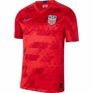 NIKE 2019/20 USA MENS NATIONAL TEAM AWAY STADIUM SOCCER JERSEY RED XXL AJ4355-68