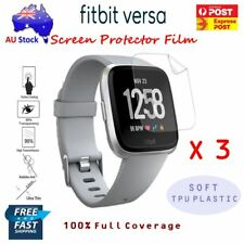 3x Fitbit Versa Screen Protector Film Ultra Clear Full Coverage TPU Soft Guard