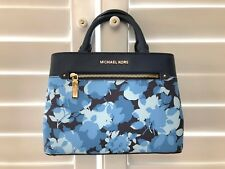 Michael Kors Hailee Satchel Leather Handbags Crossbody Bag Navy White Floral