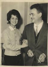 Italia, la studentessa G. Belgiorno con padre Vintage silver print Tirage arge