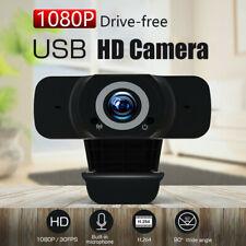 1080P HD Webcam Auto Focusing Cam Microphone PC Laptops Desktop Web Camera