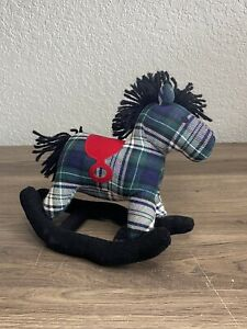 Baby Gap Horse Rocker Saddle Plaid Stuffed Animal Plush Nursery Decor Rattle