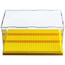 Lego Minifigures Collector Stackable Clear Storage Display Case (Yellow Base)
