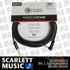 Planet Waves PW-AMSGRA-20 American Stage Guitar Cable, Right Angle-Straight 20ft