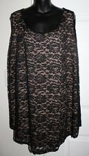 NWT Apt. 9 Woman 4x Black Lace Overlay Sleeveless Blouse Tank Top