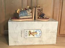 """Vintage Disney Classic Winnie The Pooh Christopher Robins Bookends """"Rare"""""""