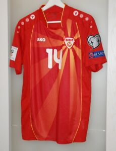 Match worn shirt Macedonia national team World Cup 2018 Rijeka Croatia size L