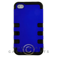 Apple iPhone 4/i4S TUFF Hybrid Case Blue Cover Shell Protector Guard Shield Skin
