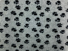 sherpa fleece paw print pfoten grau hund decke jacke möbel stoff a1296