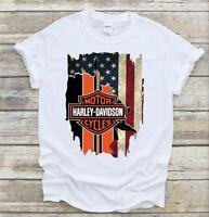 Harley Davidson Tattered Flag T Shirt