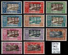 CONGO : Timbres TAXE 12 à 22, Neufs * = Cote 98 € / Lot COLONIES