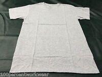 Size MEDIUM Fruit of the Loom HEATHER GREY Short Sleeve V Neck T Shirt Mens New