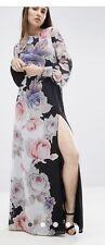 ASOS Kaftan Sleeved Maxi Dress In Black Floral. US 4/US 8. SOLD OUT
