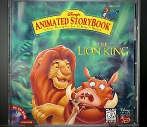(DISNEY, THE LION KING, Animated, Storybook, PC CD-ROM, Reading, Vocab, book WIN