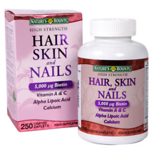 Nature's Bounty Hair Skin And Nails 250 Caplets (3 Months Supply) UK SELLER