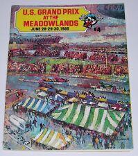 Grand Prix at Meadowlands Race program - June 1985 -Indycar - CART - Andretti