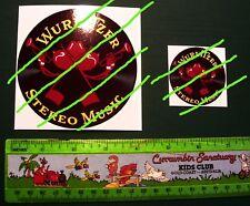 """4 Inch Vintage Wurlitzer Johnny 2 Note Decal Water Release JukeBox Machine + 2"""""""