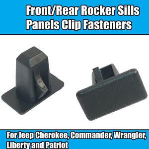 20x Clips For Jeep Cherokee Rocker Sill Panel Fastener Clips Black Plastic