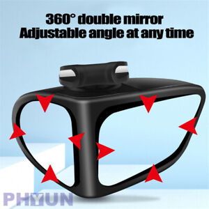 1x Right Side Car 360 Rotation Adjustable Rear View Wide Angle Blind Spot Mirror