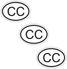 3x Konsularisches Korps CC Aufkleber s/w Autoaufkleber Nationalitätenkennzeichen