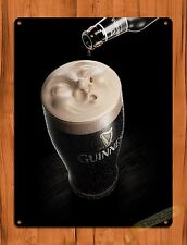 """TIN-UPS TIN SIGN """"Guiness Drop"""" Advertisement Beer Wall Decor"""